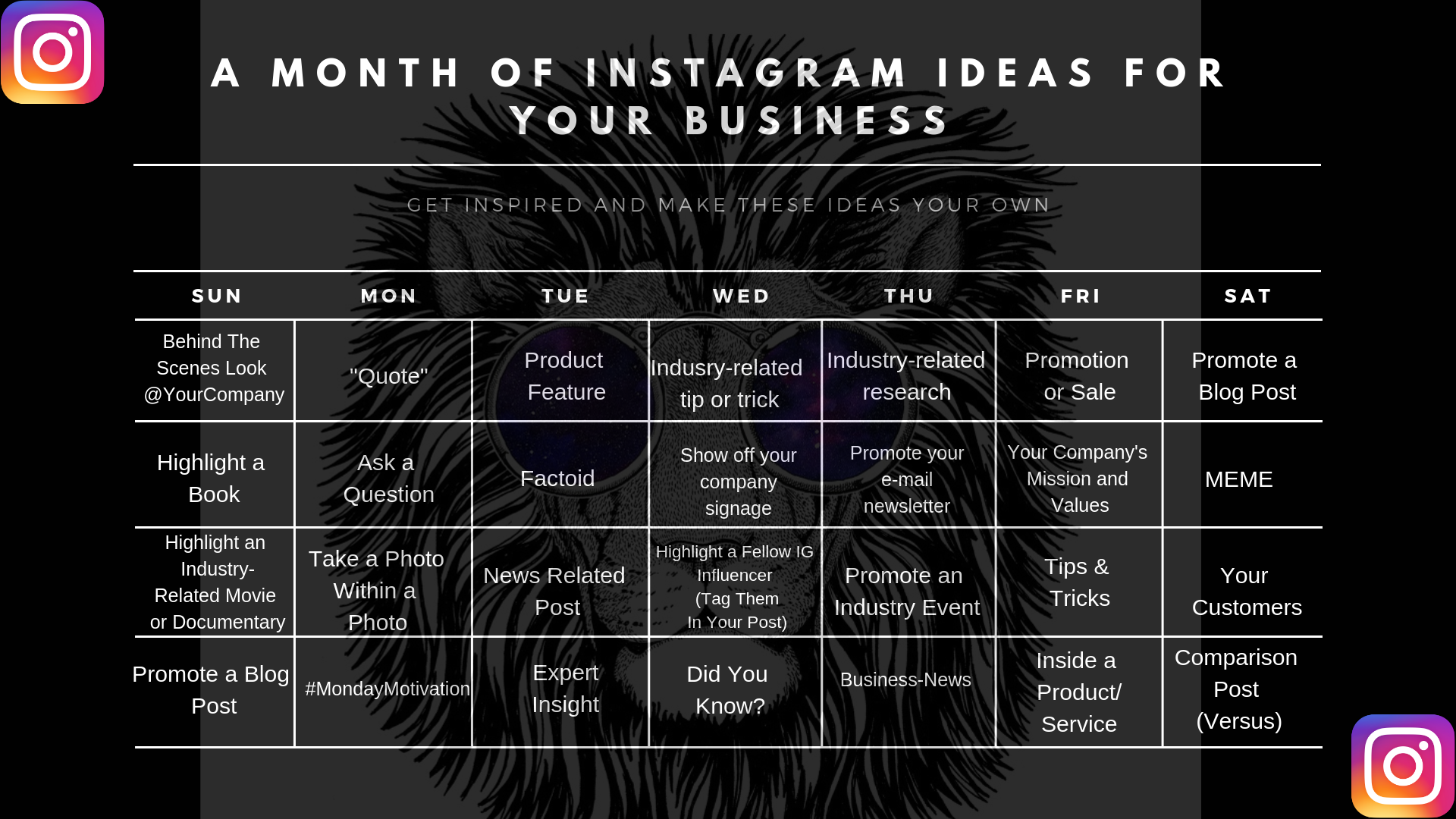 33 Instagram Ideas For Your Business Insomnicat Media